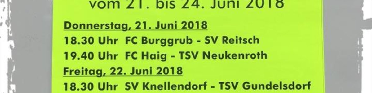 Raiffeisen-Turnier 2018 in Burggrub